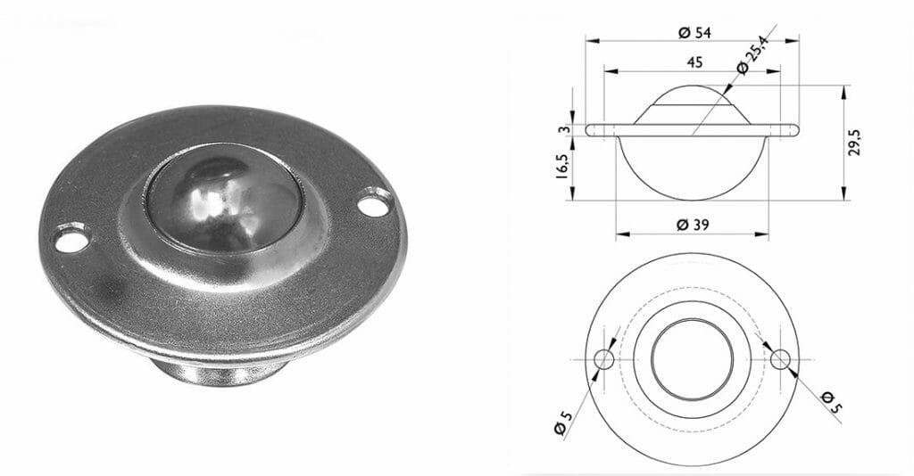 Esfera transferidora 444 - IPC Industrial - Esfera para 18 kg