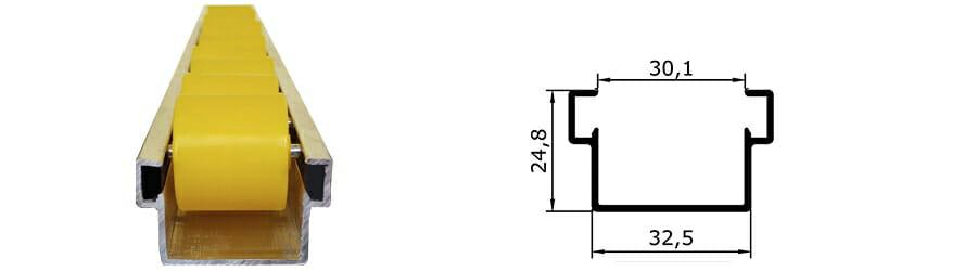 trilho flow rack leve mais dimensoes dos trilhos - Trilho Flow Rack Leve