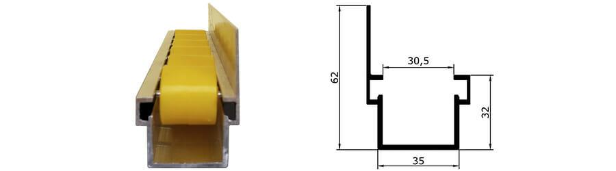 trilho flow rack pesado com aba mais dimensoes dos trilhos - Trilho Flow Rack Pesado com Aba