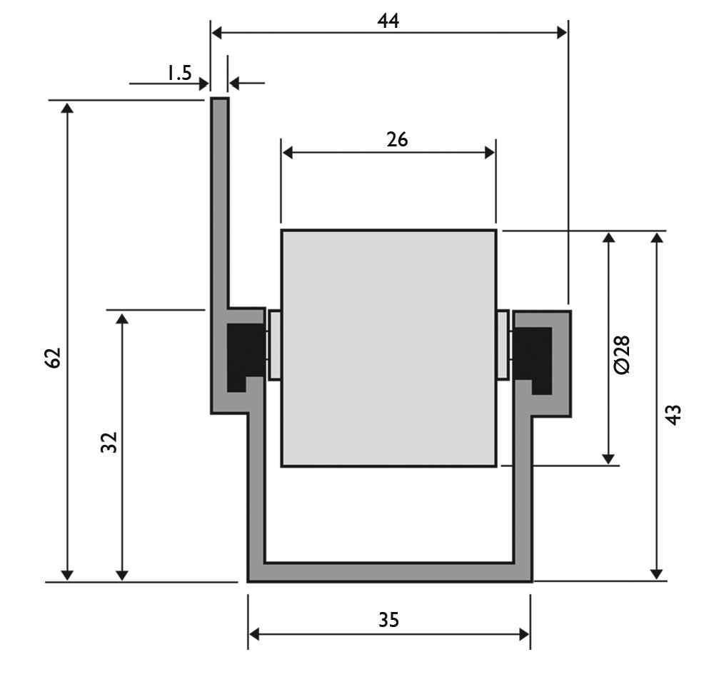 trilho flow rack pesado com aba - Trilho Roletado Flow Rack com Aba para 65 Kg