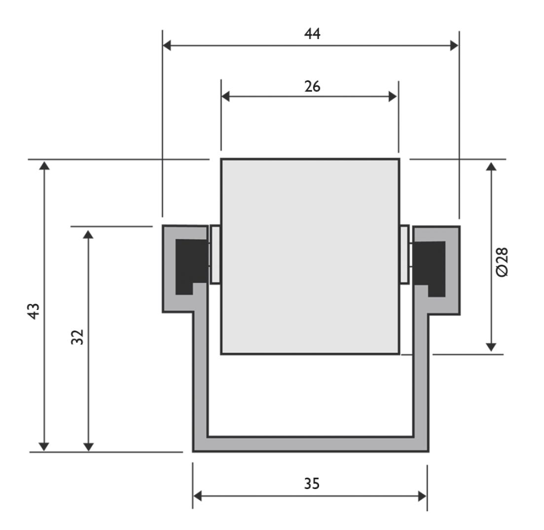 trilho roletado flow rack para 65 kgf - Trilho Roletado Flow Rack para 65 kg