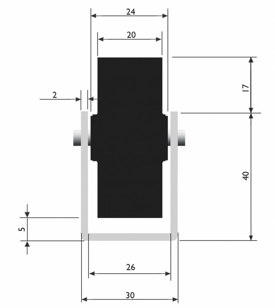 dimensoes trilho extra pesado 915x1024 - Trilho Flow Rack Extra Pesado