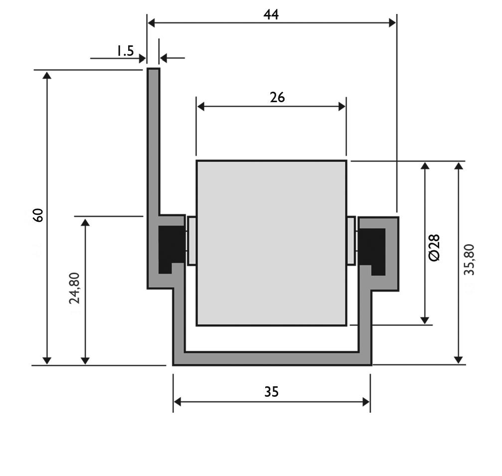 trilho flow rack leve 45 com aba - Trilho Roletado Flow Rack com Aba para 45 Kg