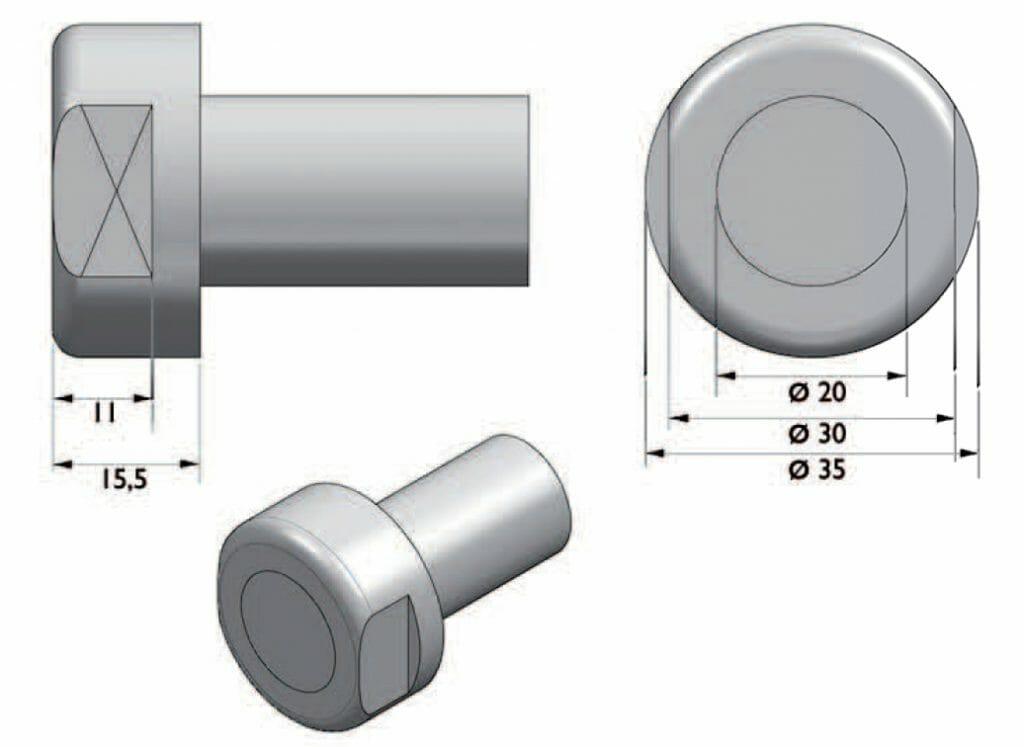 encaixe rolete padrao faco 1 1024x747 - Rolete de Impacto