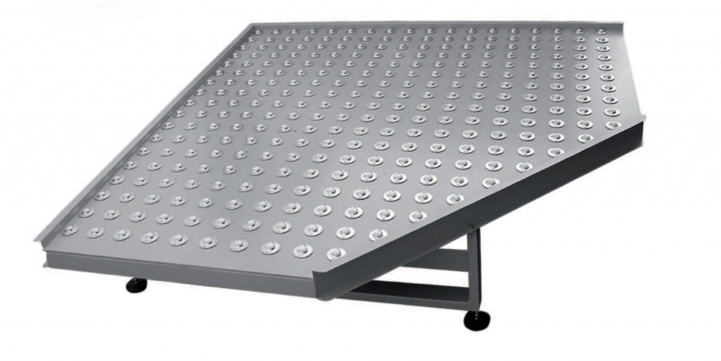 mesa de esfera transferidora table ball transfer 1024x513 - Mesa de esferas transferidoras